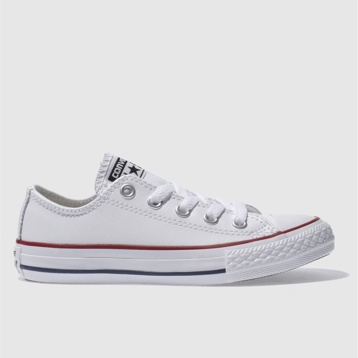 converse white & red all star oxford Boys Junior Trainers