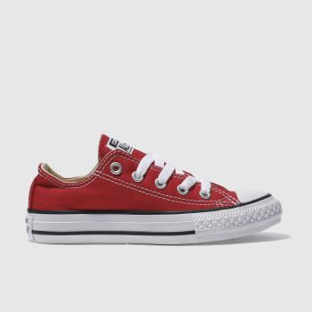Converse Red All Star Lo Unisex Junior