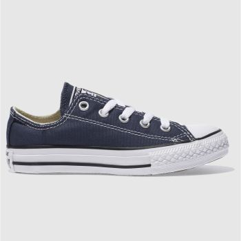 Unisex Converse Navy All Star Lo Unisex Junior