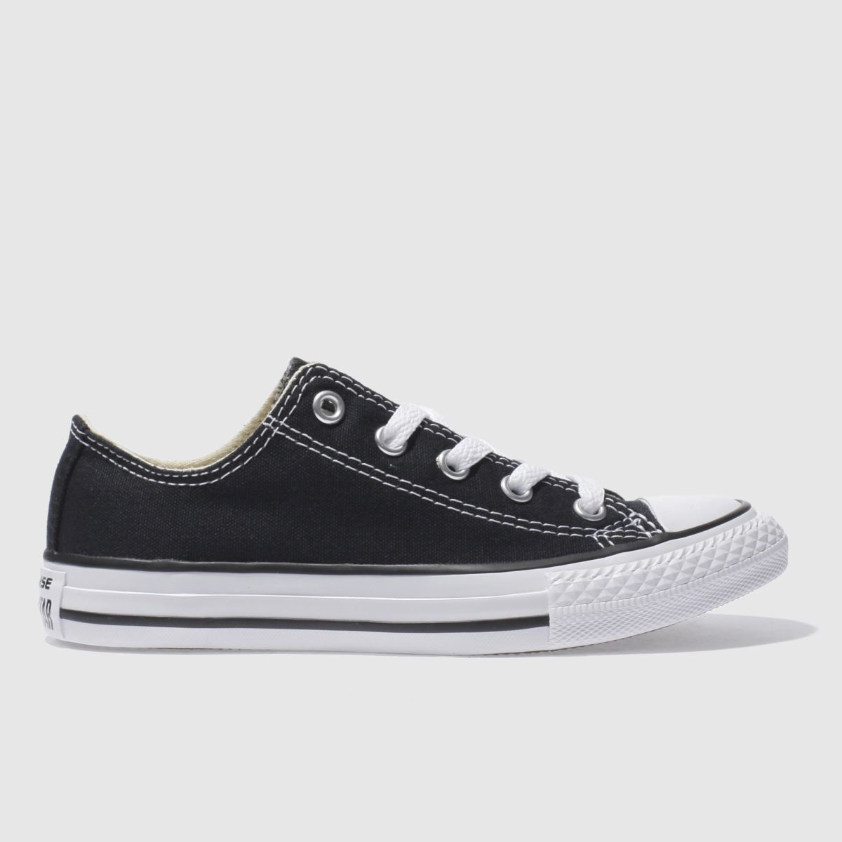 converse black all star lo Boys Junior Trainers