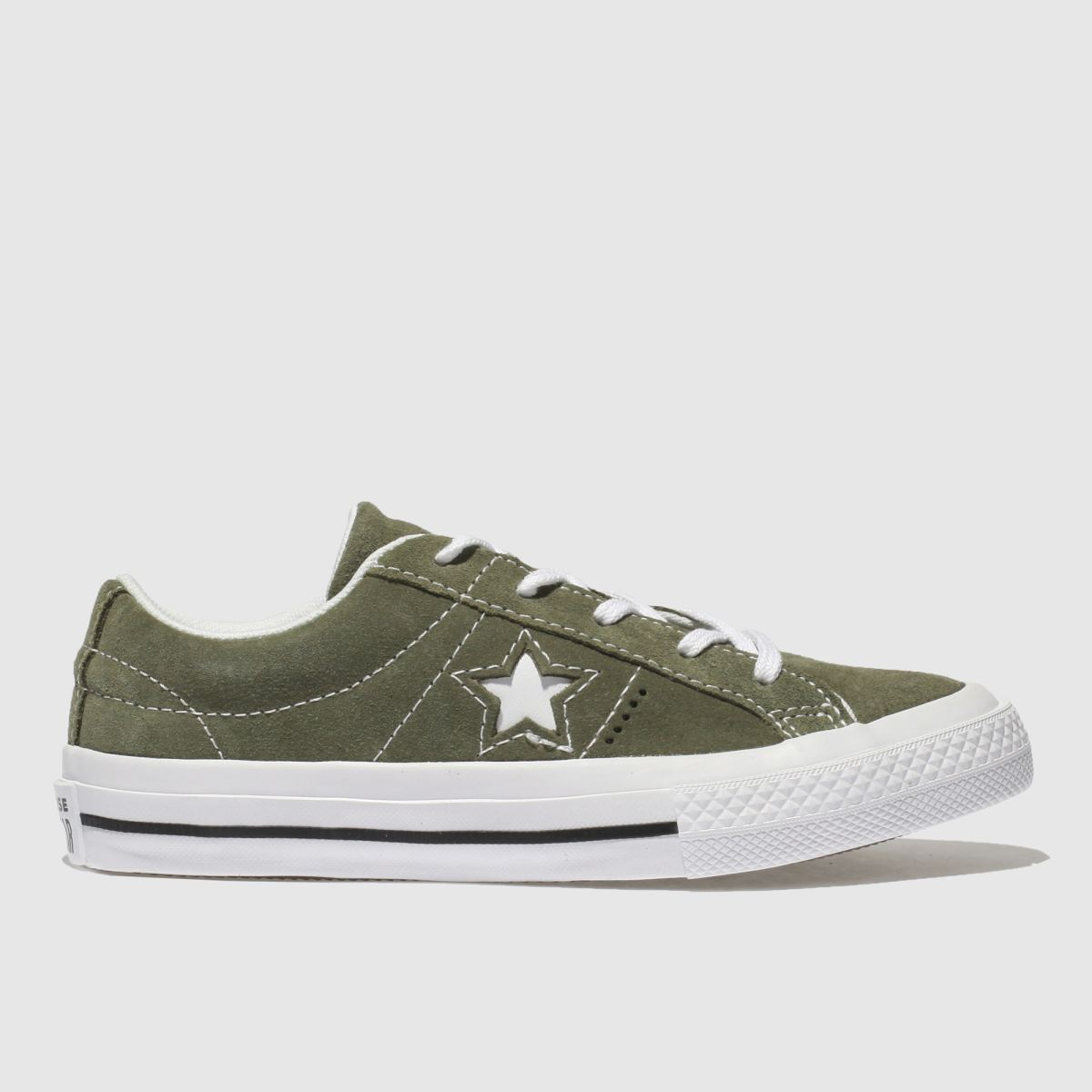 Converse Khaki One Star Vintage Suede Trainers Junior