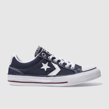 Unisex Converse Navy & White Star Player Unisex Junior
