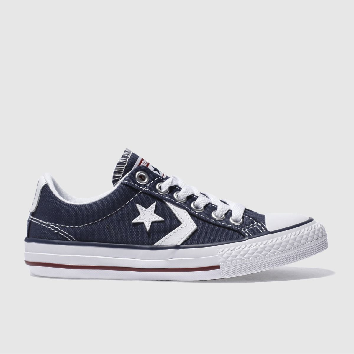 converse navy & white star player Boys Junior Trainers