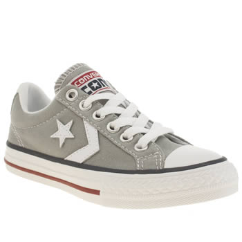 Unisex Converse Light Grey Star Player Oxford Unisex Junior