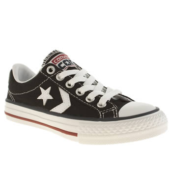 Converse Black & White Star Player Ox Unisex Junior