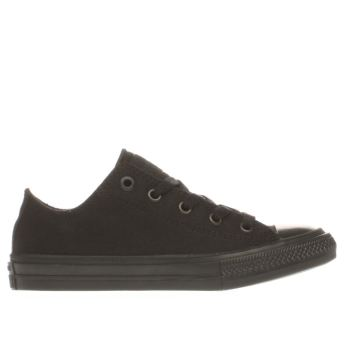 CONVERSE BLACK CHUCK TAYLOR II OX JUNIOR TRAINERS
