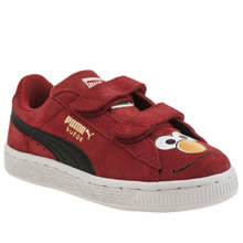 Puma Red Suede Sesame Street Unisex Junior