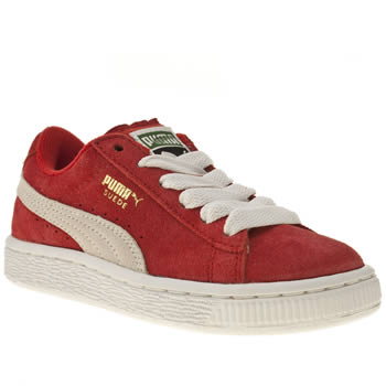 Puma Red Suede Classic Unisex Junior