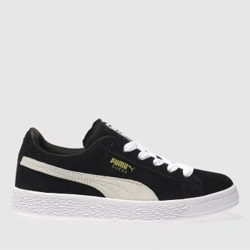 Puma Black & White Suede Classic Unisex Junior