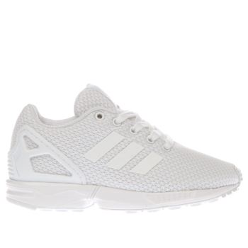 Adidas White Zx Flux Unisex Junior