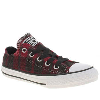 Unisex Converse Red All Star Ox Unisex Junior