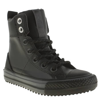 Converse Black All Star Hi Asphalt Unisex Junior