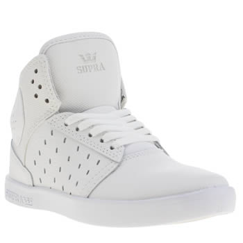 Supra White Atom Unisex Junior