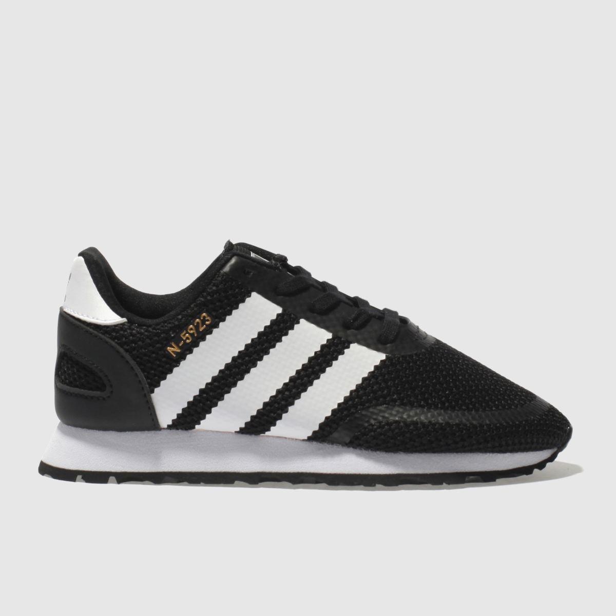Adidas Black & White N-5923 Junior Trainers
