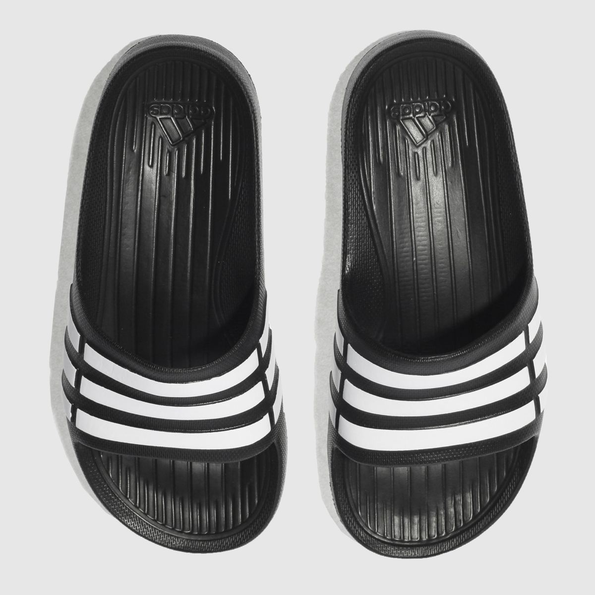 Adidas Black & White Duramo Slide Trainers Junior