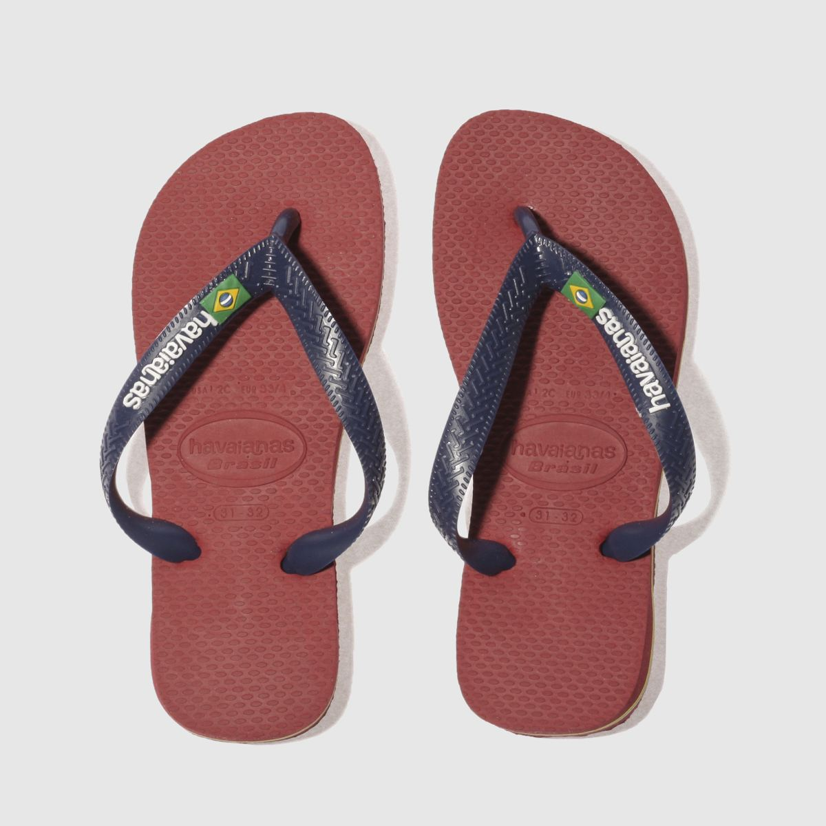 Havaianas Red Brasil Logo Junior Sandals