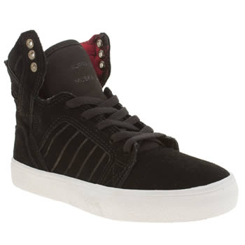 Supra Black Skytop Unisex Junior