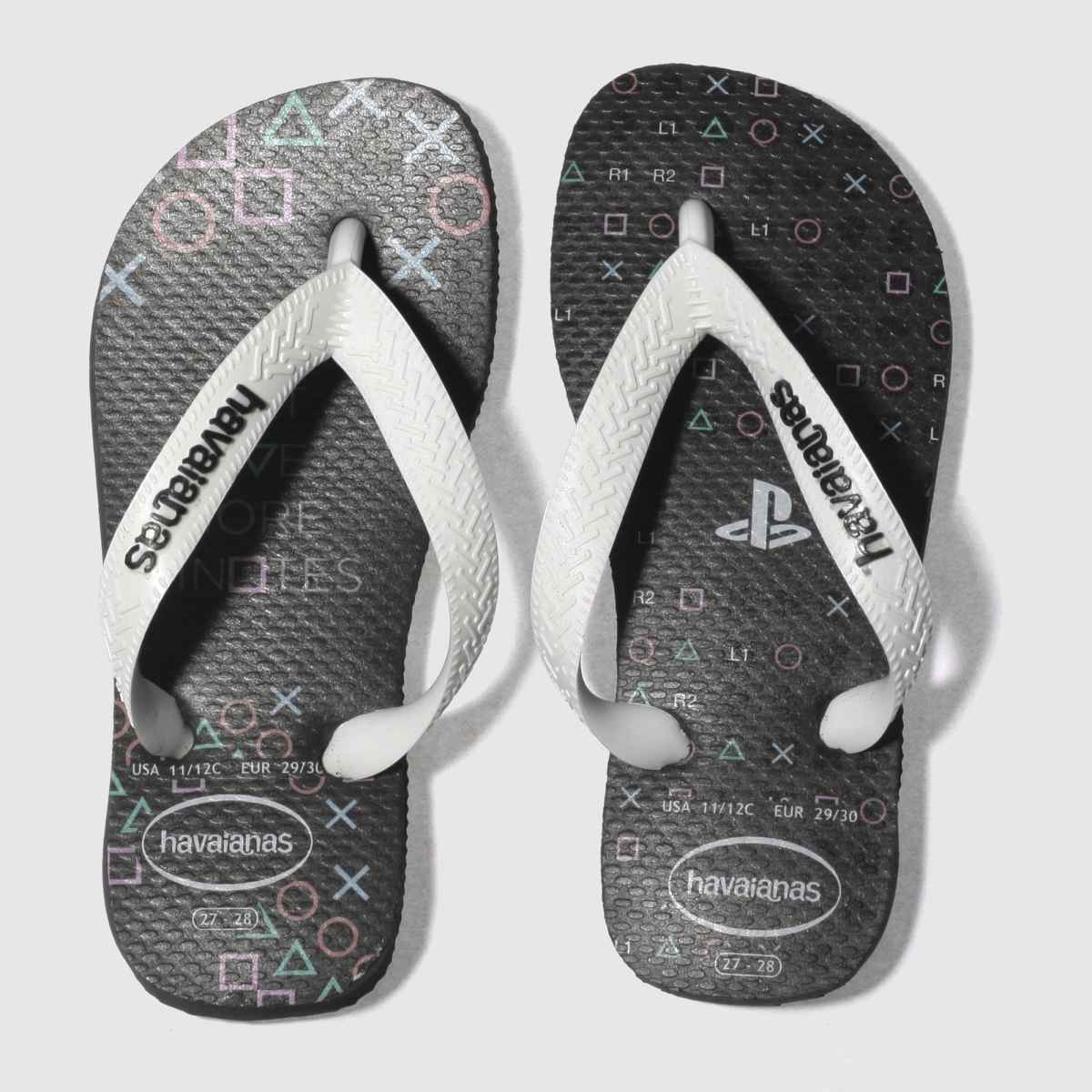 Havaianas Dark Grey Playstation Junior Sandals