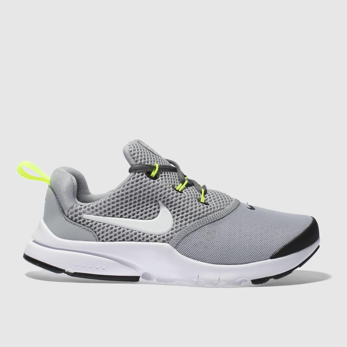 Nike Grey Presto Fly Trainers Junior