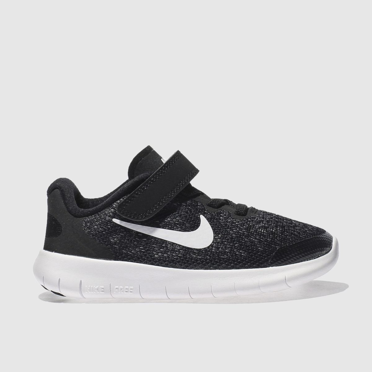 nike black & white free run 2 Junior Trainers