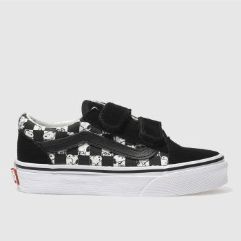 Vans Black Old Skool Peanuts Snoopy Unisex Junior