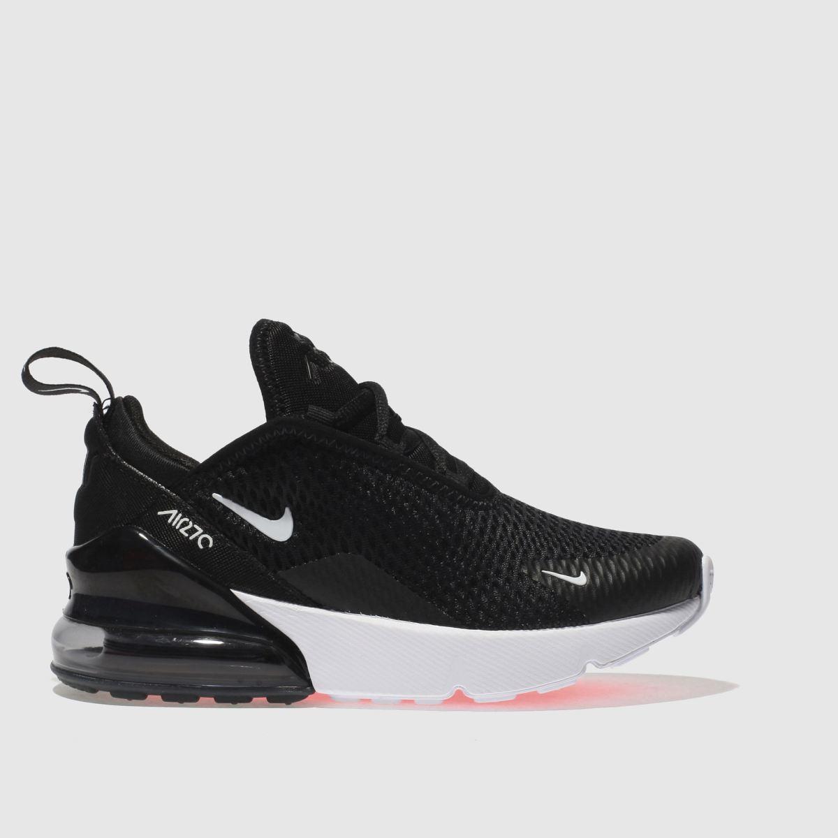 Nike Black & White Air Max 270 Trainers Junior