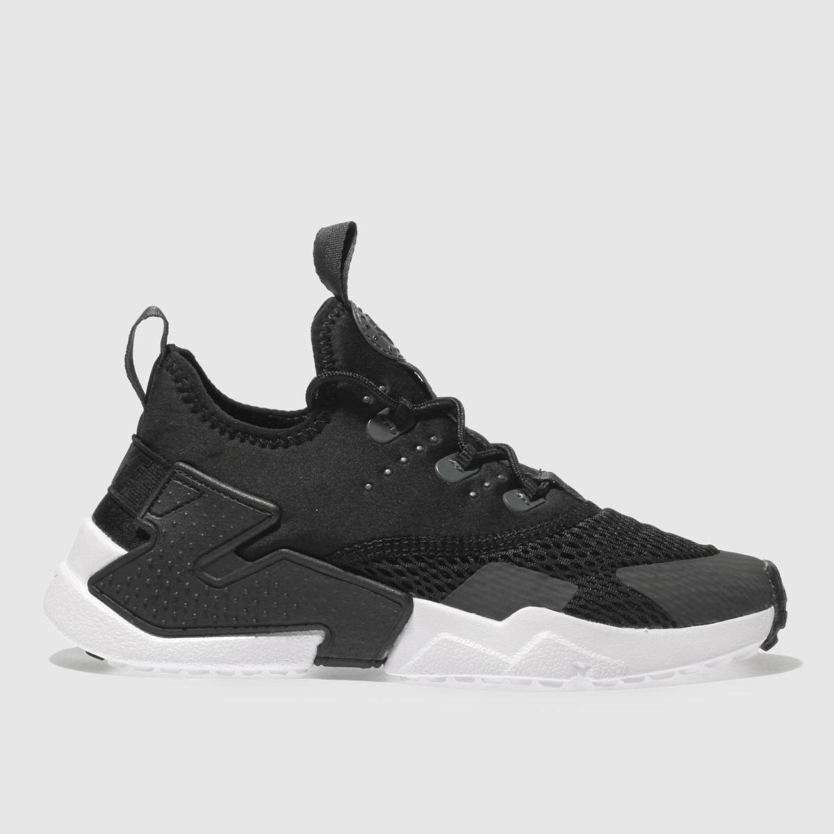 Nike Black & Grey Hurache Run Drift Junior Trainers