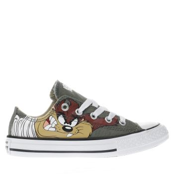 CONVERSE KHAKI  LOONEY TUNES TAZ OX JUNIOR TRAINERS