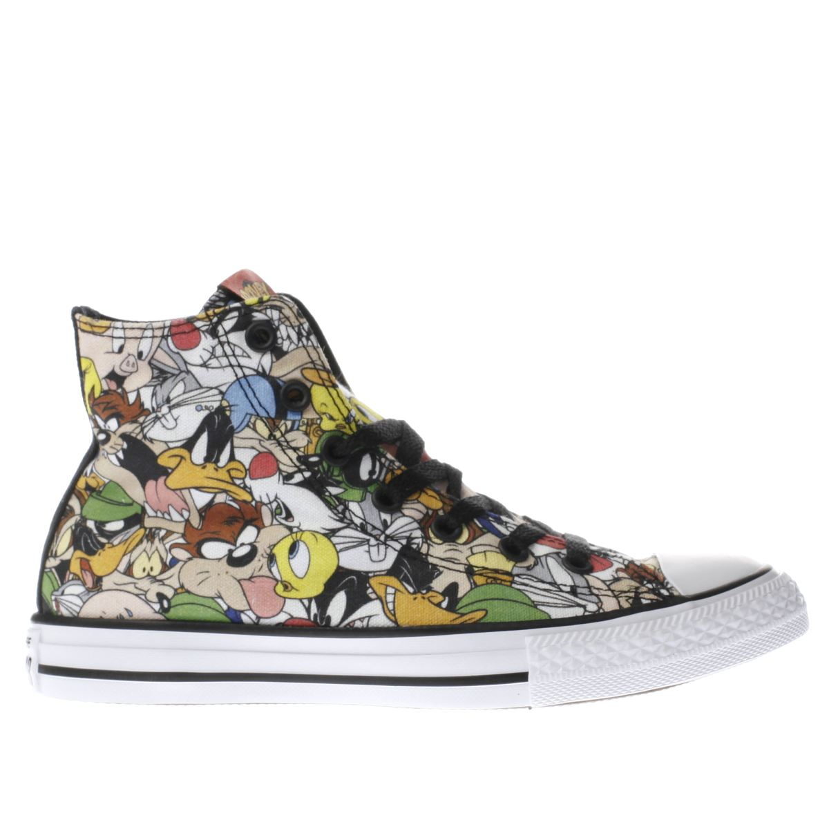 converse black & green looney tunes hi Junior Trainers
