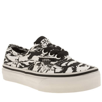 Vans Black & White Authentic Star Wars Unisex Junior