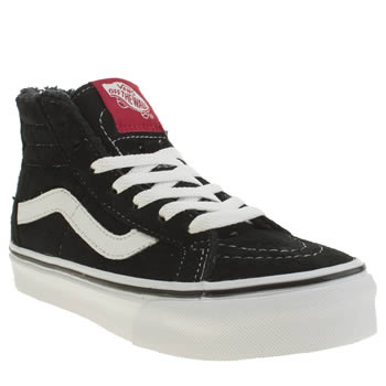 Vans Black & White Sk8-hi Zip Unisex Junior