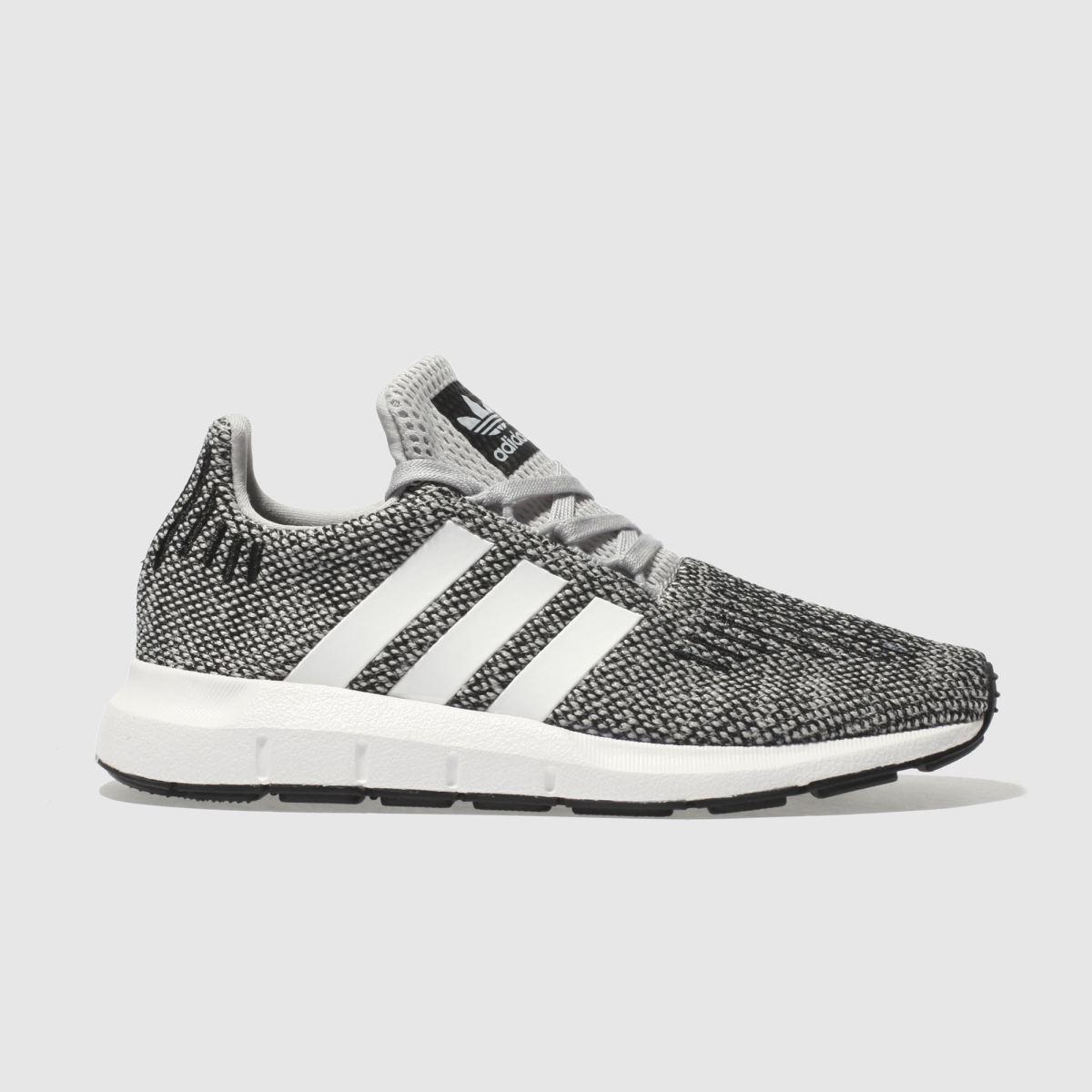 Adidas Light Grey Swift Run Junior Trainers