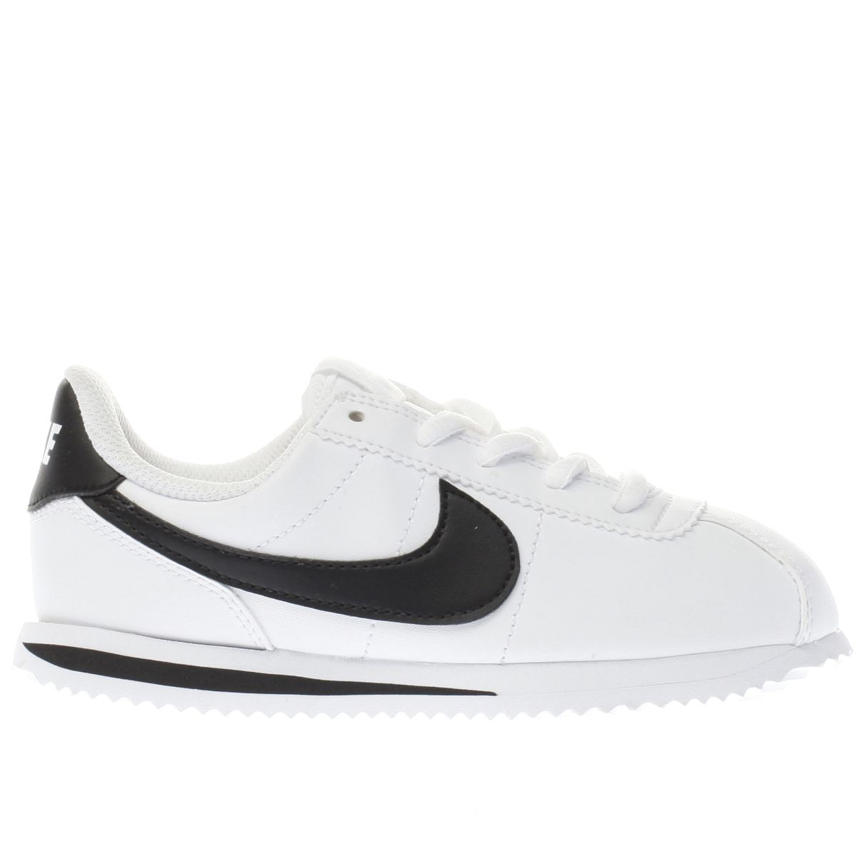 nike white & black cortez basic Junior Trainers