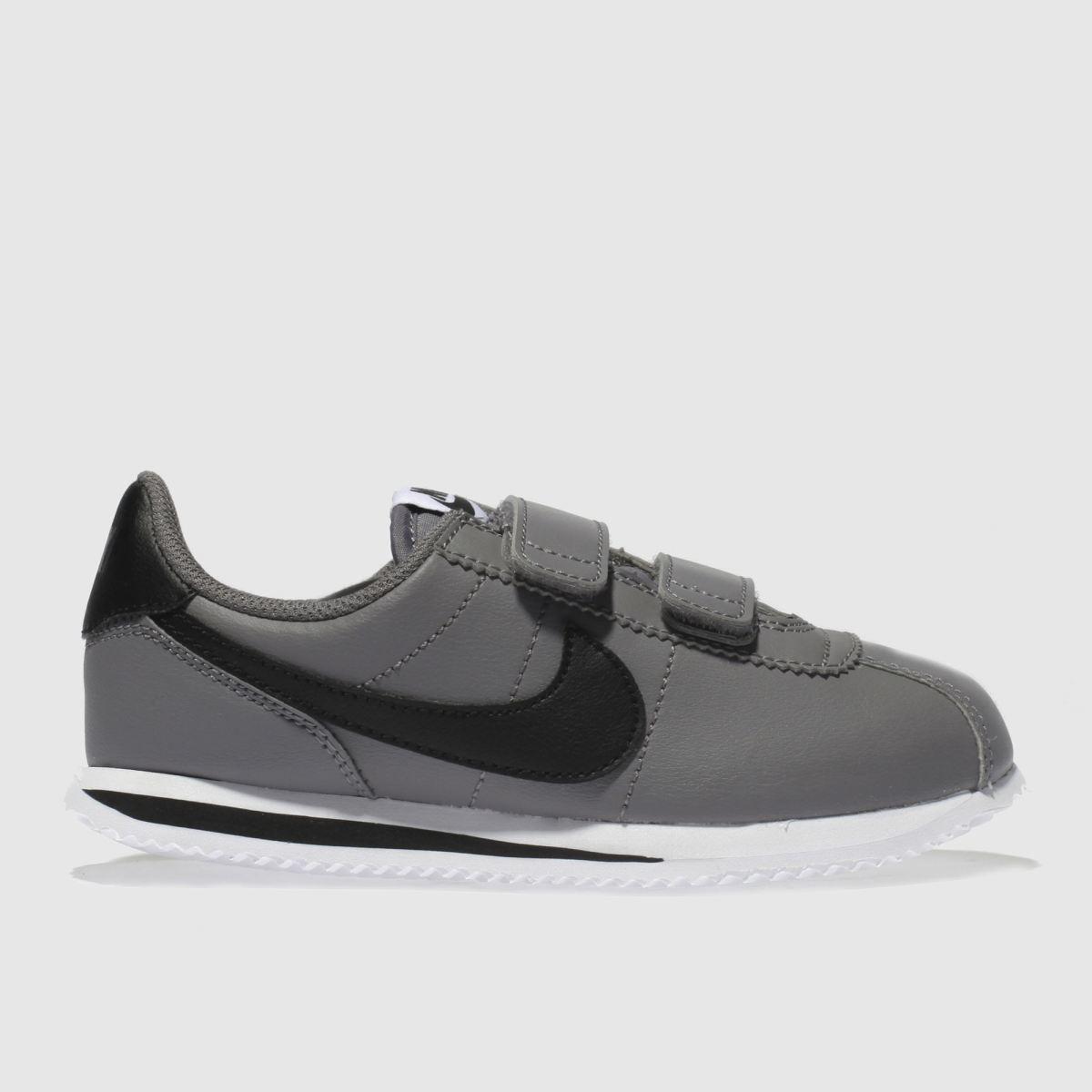 Nike Light Grey Cortez Basic Trainers Junior