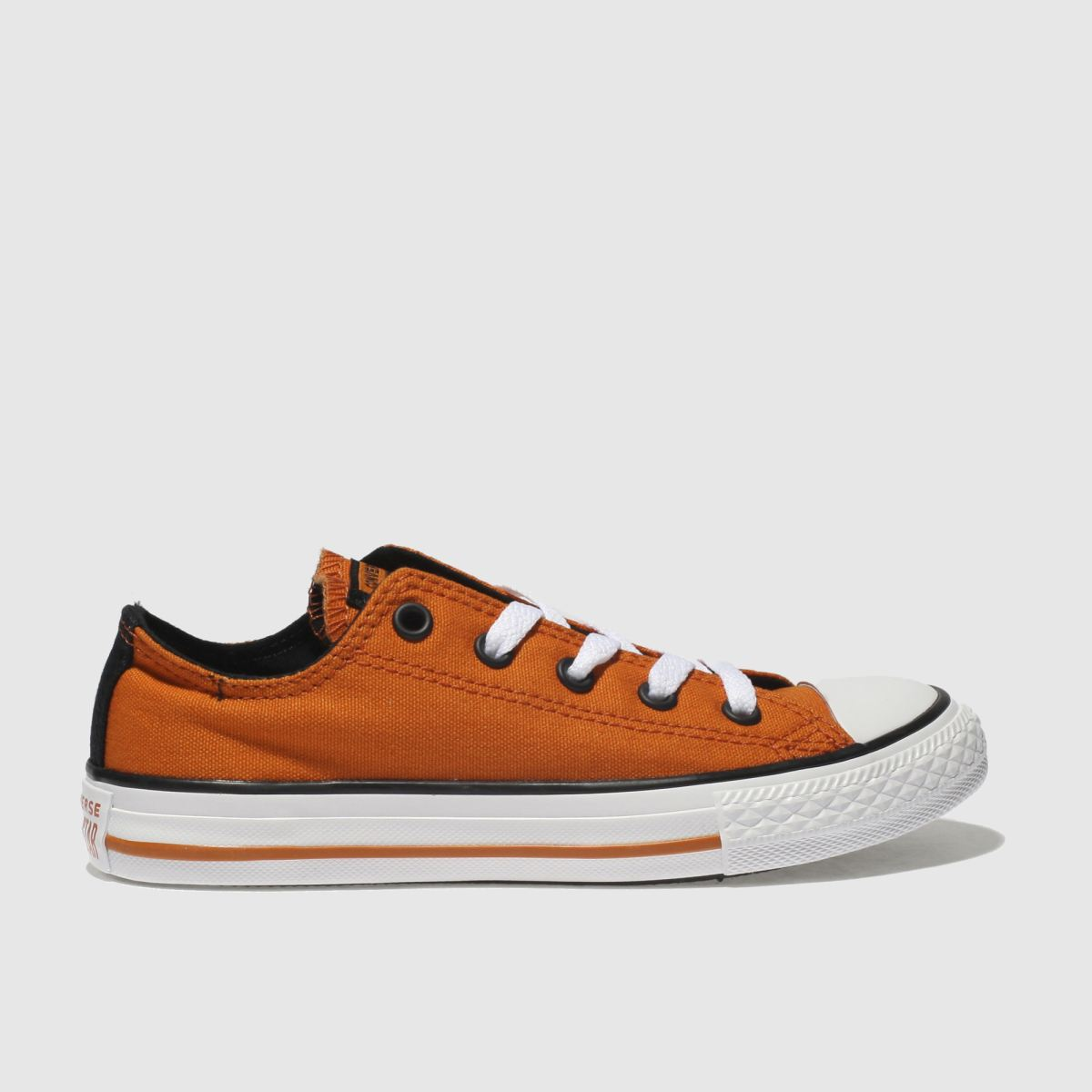 Converse Orange All Star Lo Trainers Junior