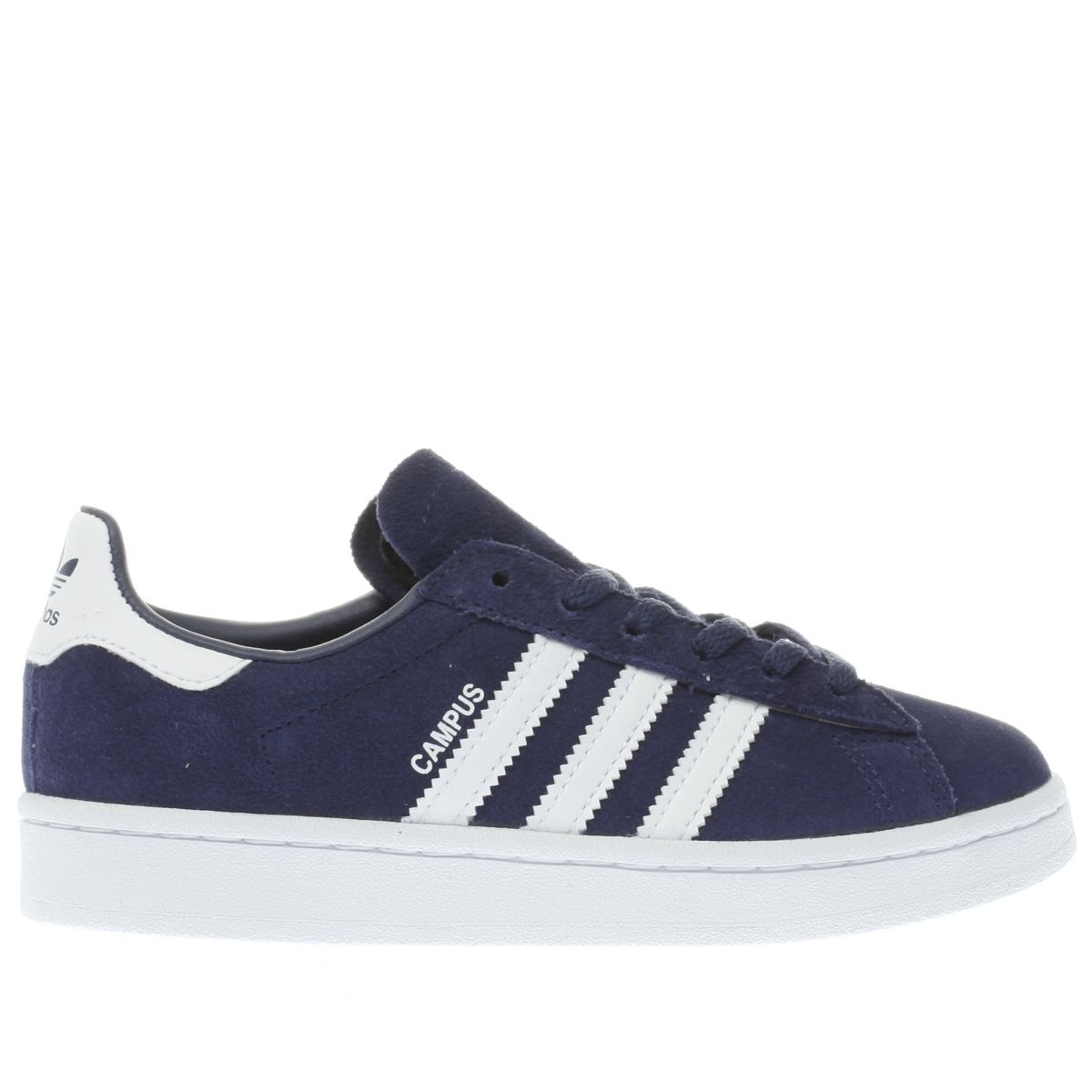 adidas navy & white campus Junior Trainers