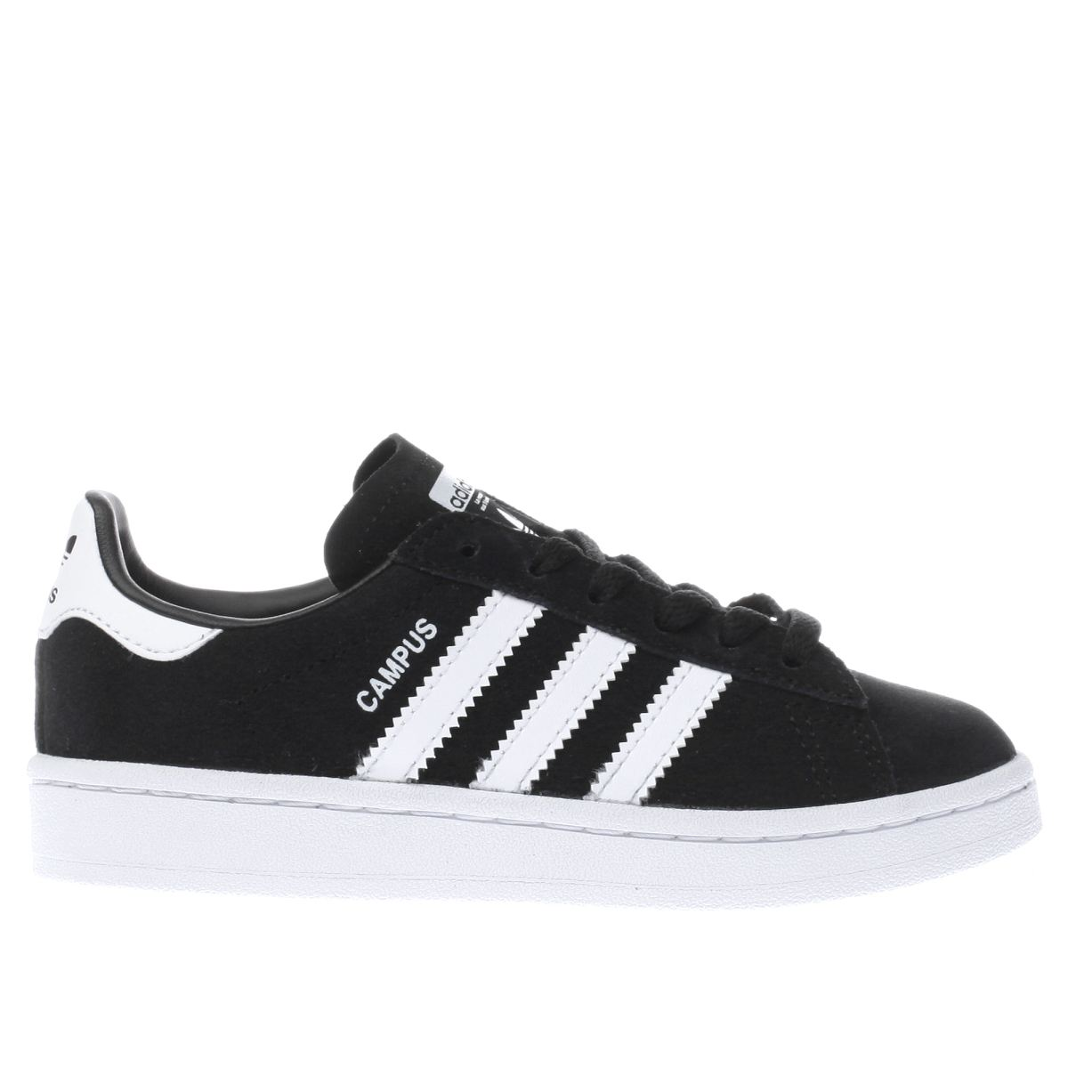 adidas black & white campus Junior Trainers