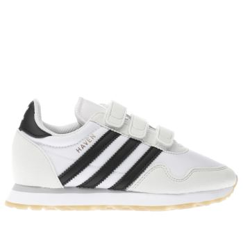 Adidas White & Black HAVEN Unisex Junior