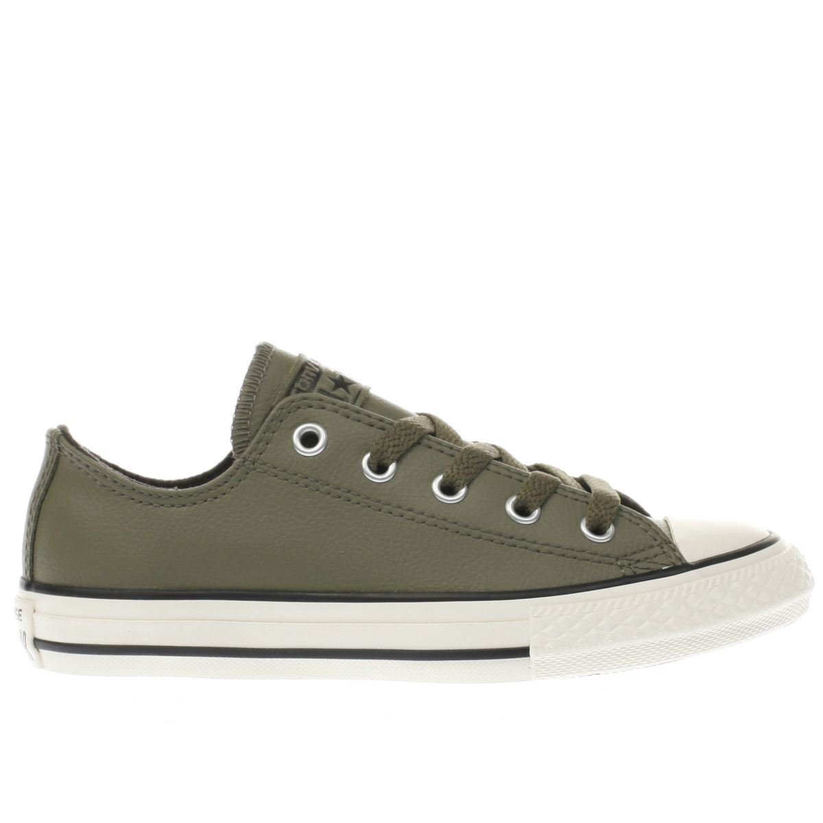 converse khaki all star lo leather Junior Trainers