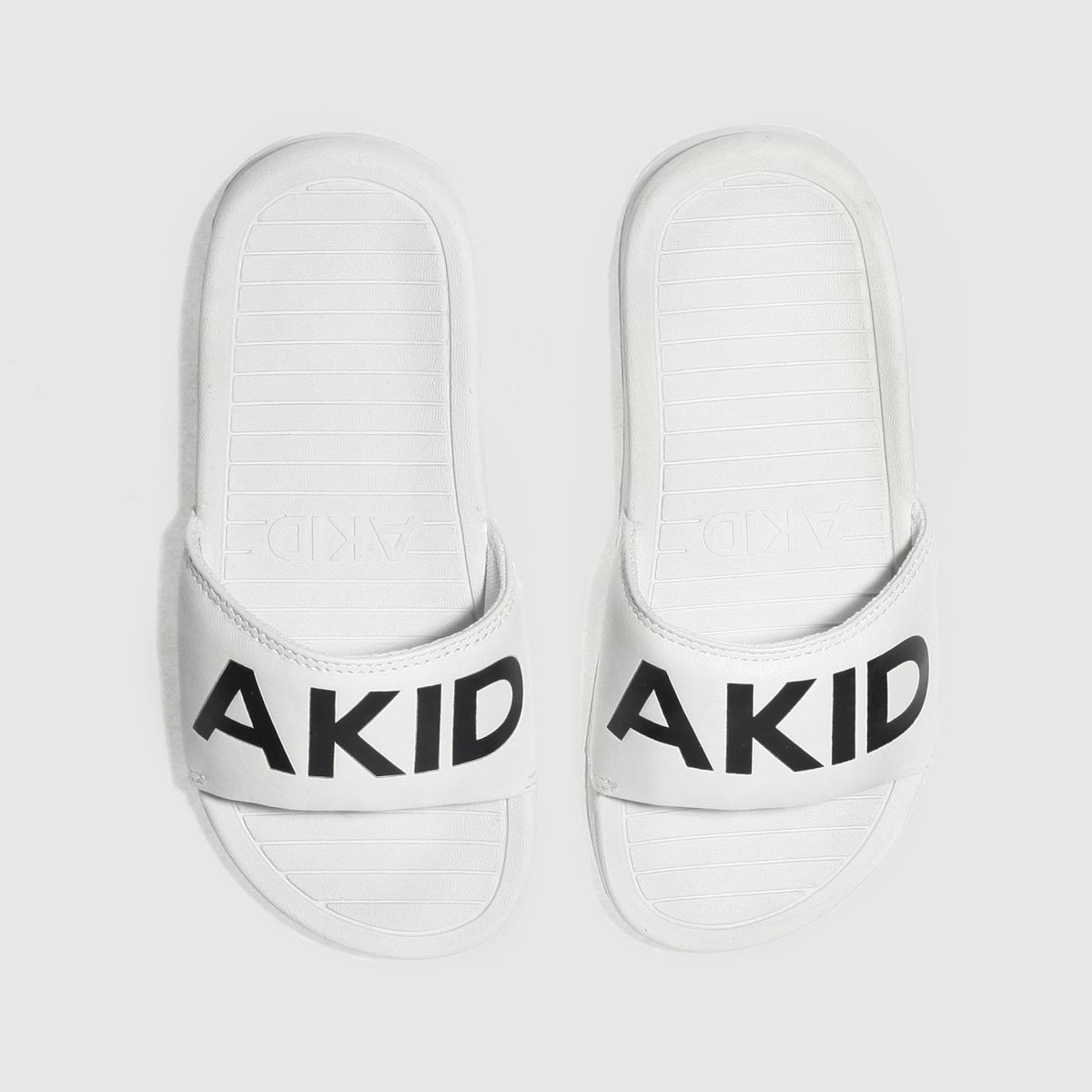 Akid Akid White & Black Aston Junior Sandals
