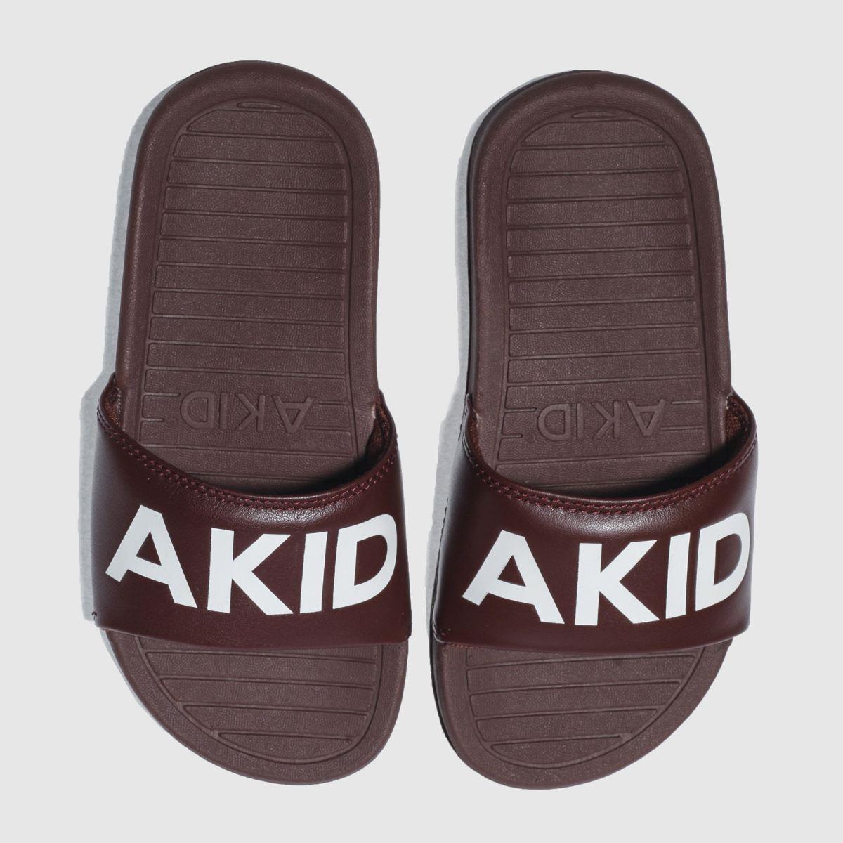 Akid Akid Burgundy Aston Junior Sandals