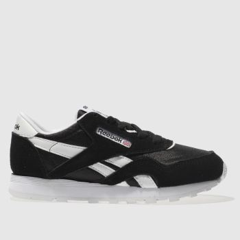 Reebok Black & White Classic Nylon Unisex Junior