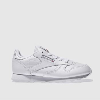 Reebok White Classic Leather Unisex Junior