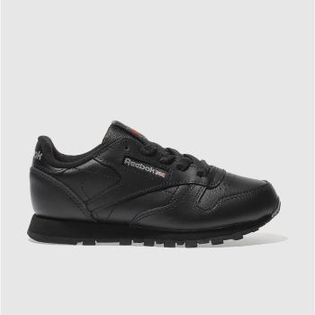 Reebok Black Classic Leather Unisex Junior