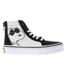 Vans White & Black Sk8-hi Peanutes Jo Cool Unisex Junior