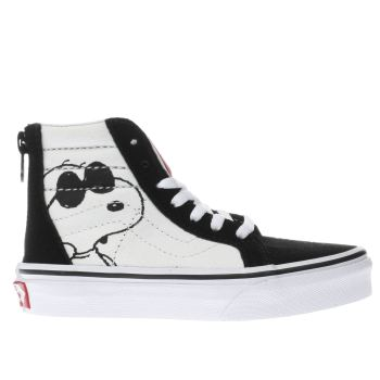 Vans White Sk8-Hi Peanuts Jo Cool Unisex Junior
