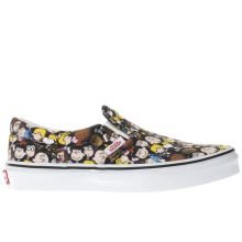 Vans Black & Yellow Slip-on Peanuts The Gang Unisex Junior