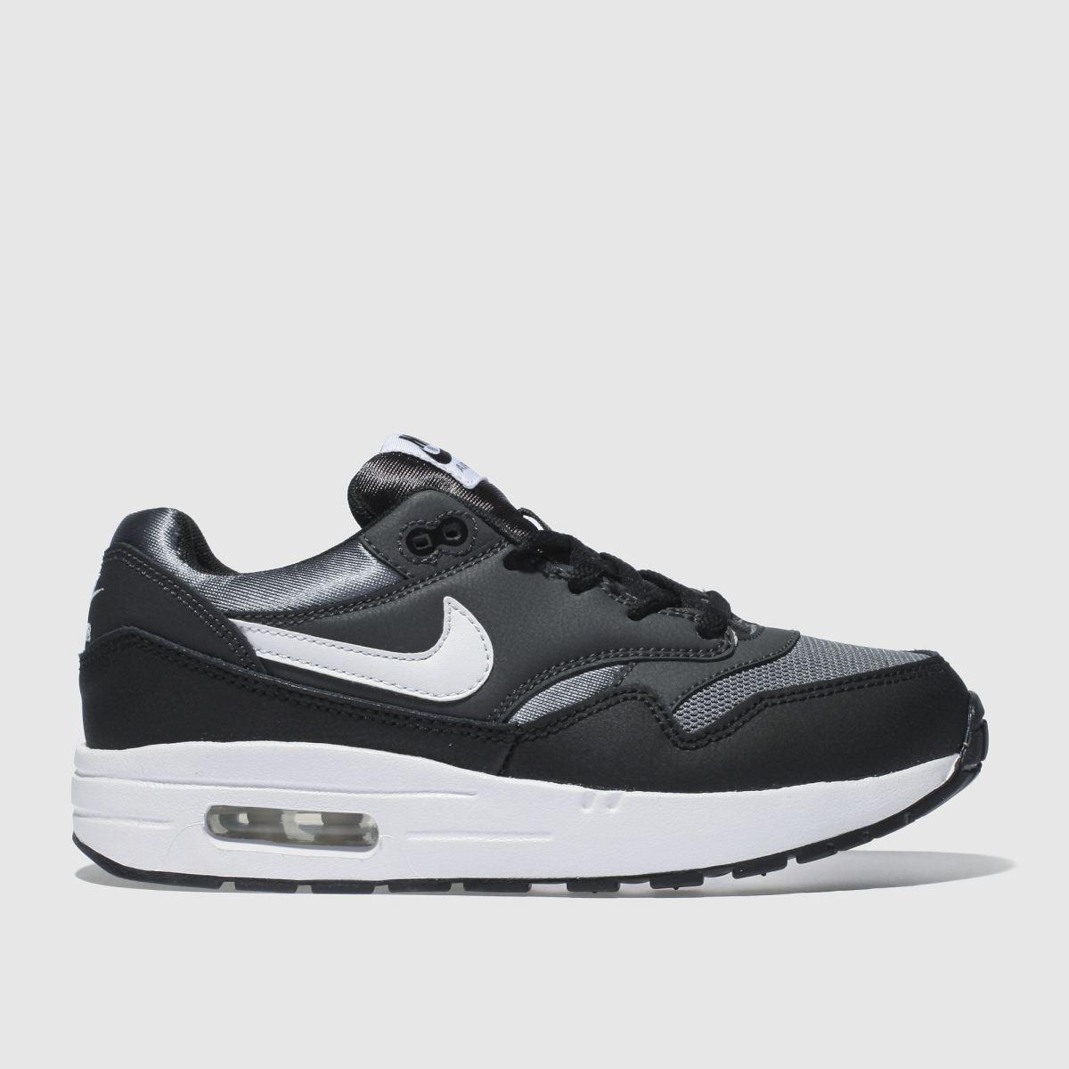 Nike Black & Grey Air Max 1 Trainers Junior