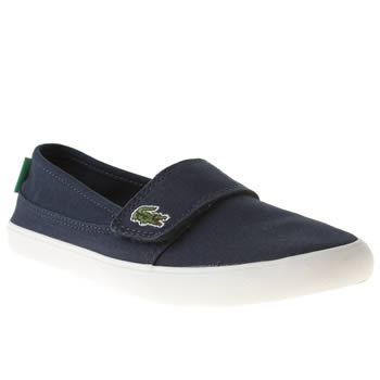 Lacoste Navy & White Marice Unisex Junior