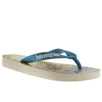 Havaianas White & Pl Blue Wally Unisex Junior